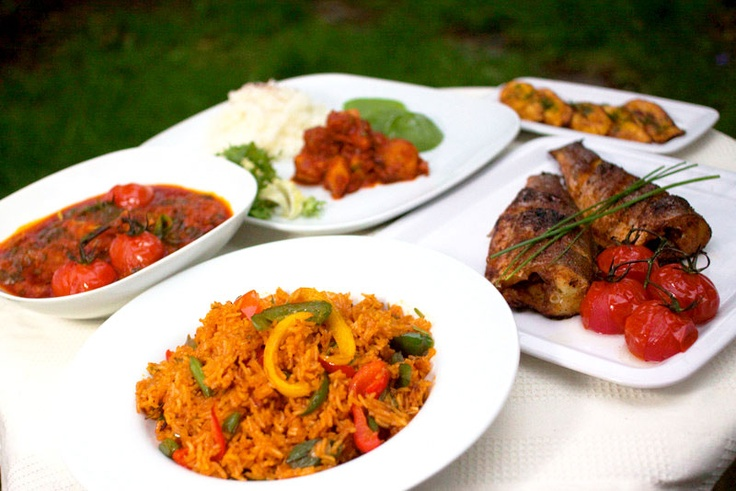 A flavoursome banquet.© Waakye Leaf 2011. Photography by Elaine Sutton.