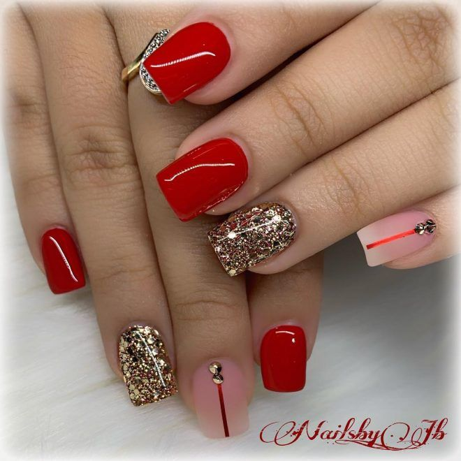 So Cute Short Acrylic Nails Ideas You Will Love Them Short Acrylic Nails Red Nails Nail Shapes