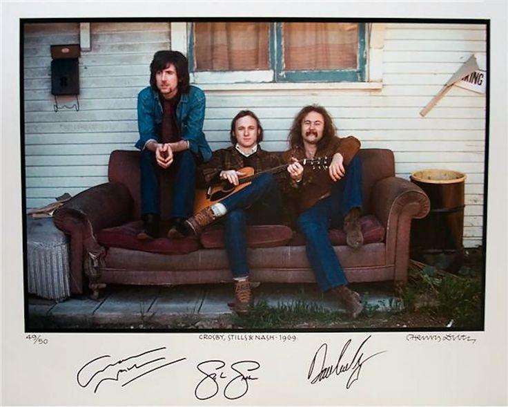 "chrisgoesrock: "" Graham Nash, Stephen Stills and David Crosby 1969 """