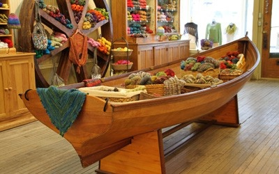 yarn store and cafe in Madison- um...we need to take a trip there!