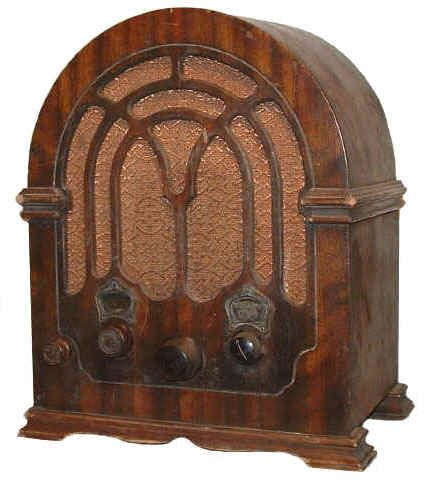 Antique radios.....we have a whole bookshelf full of antique radios in our attic. Somewhat similar, different styles.