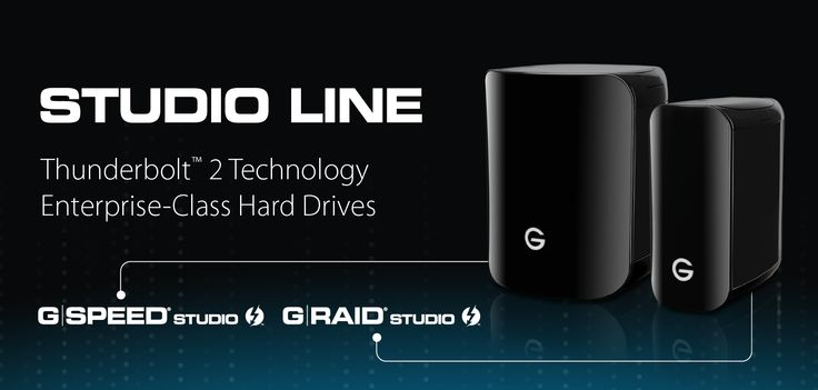 New Product Announcement from #NAB: G-RAID Studio and G-SPEED studio. Both supporting #Thunderbolt2 and designed for demanding video creation and editing software