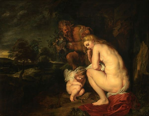 MYTHOLOGICAL NUDITY: Woman Pursued by Satyrs by Honoré Daumier