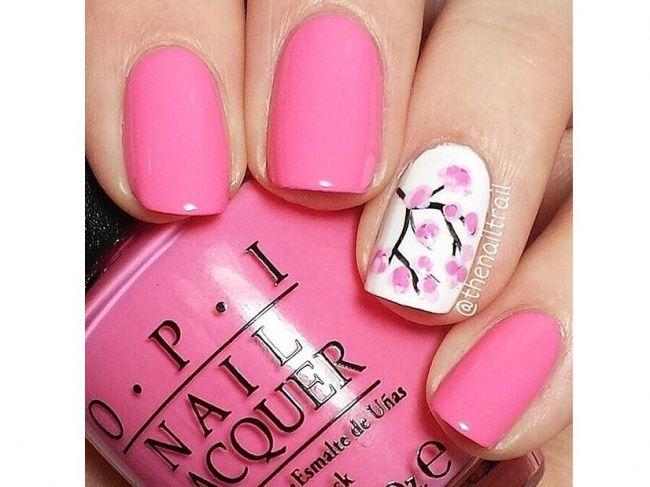 20 pomysłów na różowy manicure. Słodkie wzorki na paznokcie na lato! - Strona 9