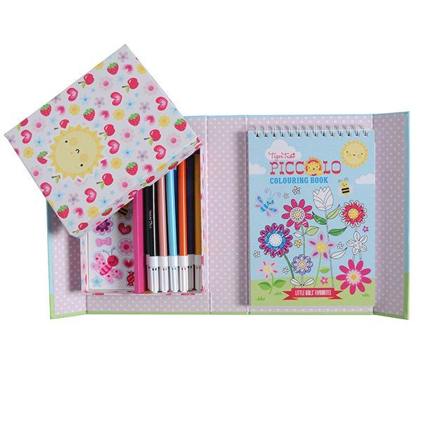 Piccolo colouring set - little girls' favourites