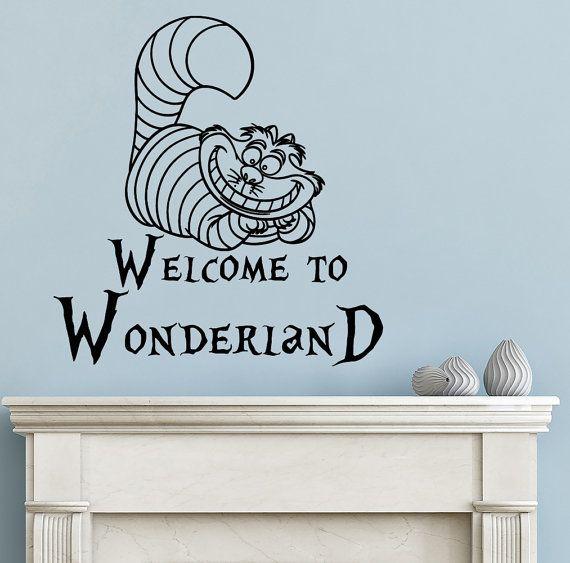 Best Alice In Wonderland Wall Decal Images On Pinterest Wall - Custom vinyl wall decals cats