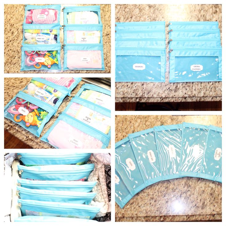Budget Diaper Bag Organization.                 Made From Pencil Zipper Pouches
