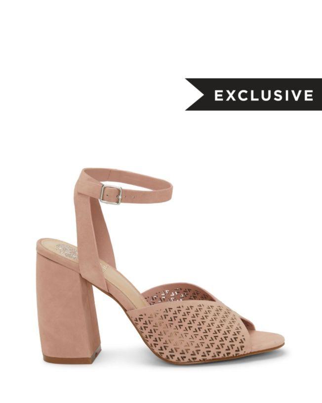 708a8d3a4 Gedda – Laser-cut Block-heel Sandal in 2019   Mummy fashion   Block ...