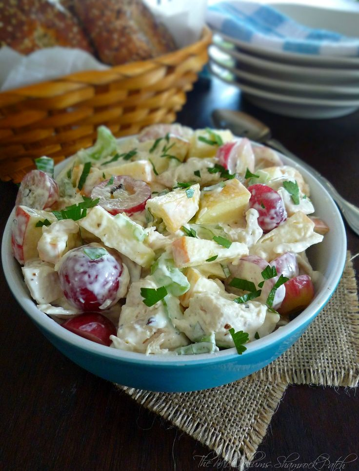 Waldorf Chicken Salad is a lovely update to the original New York's Waldorf-Astoria Hotel's recipe for Waldorf Salad combining Dukes mayonnaise, Greek Plain yogurt, lemon juice, diced chicken breas...