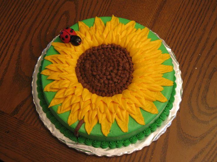 Sunflower Birthday Cake | Sunflower Birthday Cake
