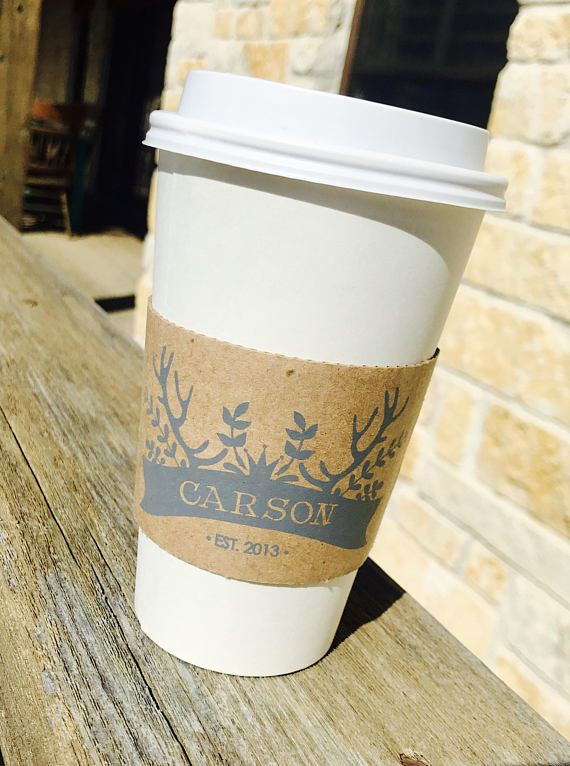 Personalized Disposable Coffee Cups From Eloquence Ink Car Hot Cocoa Bar