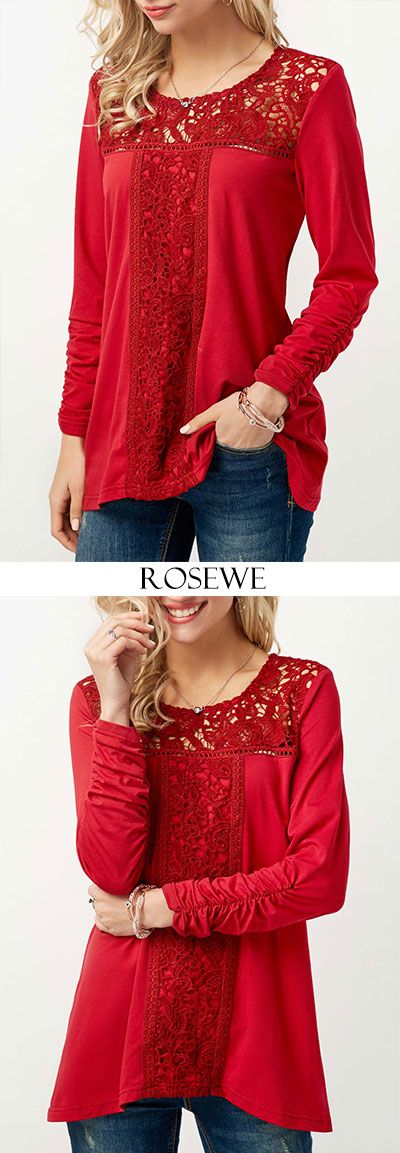 Cute red tops for women at Rosewe.com, free shipping worldwide, check it out.