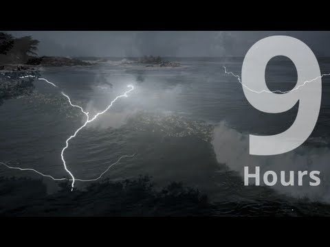 Thunderstorm and Waves. Beach house rainstorm. Relaxation Meditation Sleep Atmosphere Ambient - YouTube