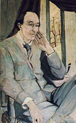 Frederick Delius [born Fritz Delius] (1862-1934), portrait (1912), by Ida Gerhardi (1862-1927).