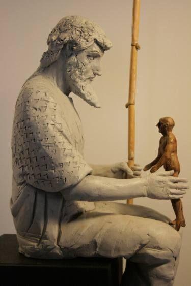 "Saatchi Art Artist Alberto Criscione; Sculpture, ""Promethéus - Born to be God"" #art"