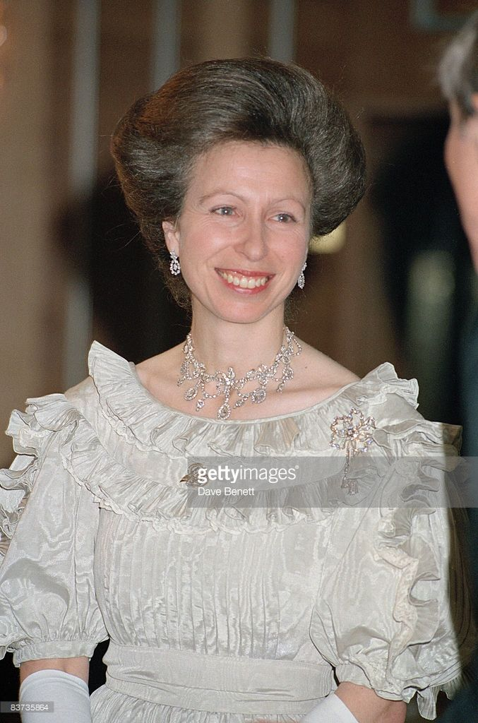 Princess Anne attends a British Clothing Council fashion show, 23rd January 1992. (Photo by Dave Benett/Getty Images)