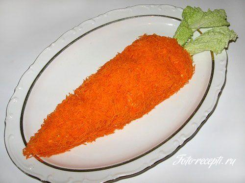 Салат Морковка к Новому году кролика