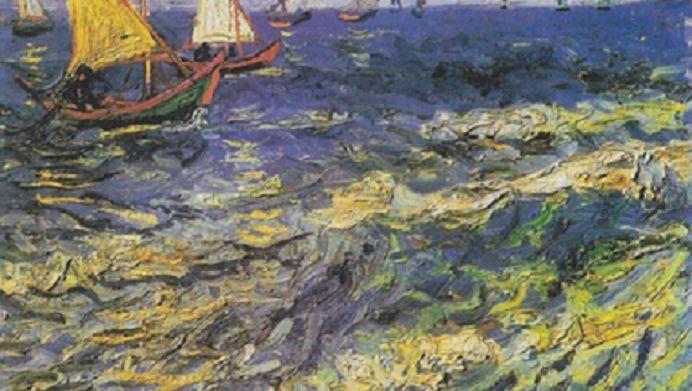 """Németh György: A tengerről - A tenger örök dolog. Az emberek, akik a vízen élnek tudnak valamit az élet mélyebb értelméből… tudják, a víz """"történik"""" tovább azután is, miután az ember pillanata már elmúlt… (Vincent van Gogh - Fishing Boats on the Beach at Saintes-Maries, 1888)"""