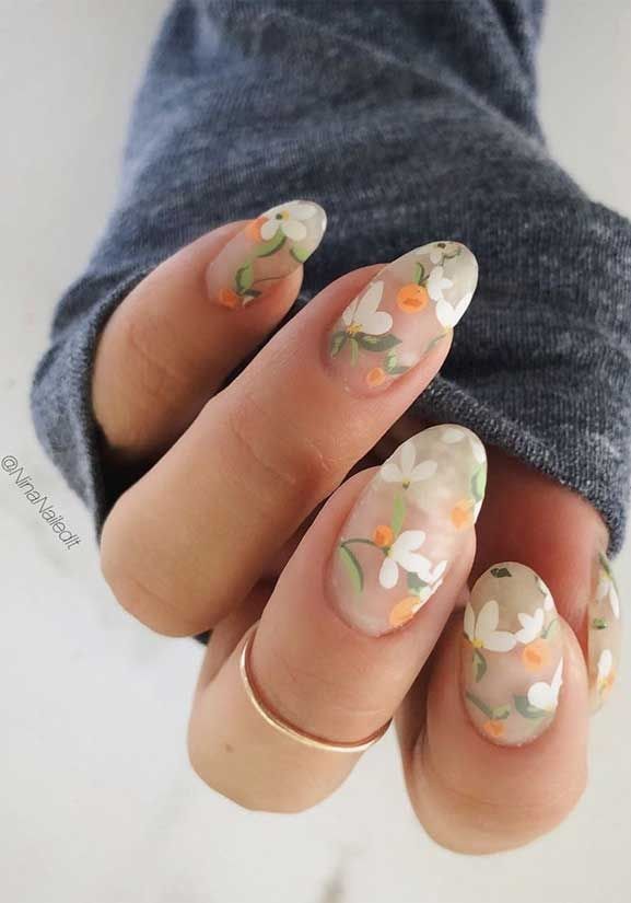 These Pretty Nails Are Just Perfect For Spring In 2020 August Nails Nail Designs Flower Nails