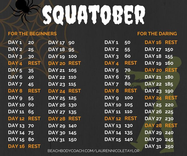 squatober is here come squat with the rest of us over on