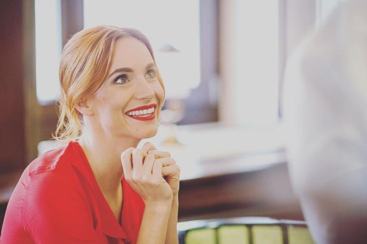 When the one you have been waiting for is finally there#shooting #actress #hanavagnerova #redlipstick #bourjois #fashion #lovemylife @bourjois_czsk
