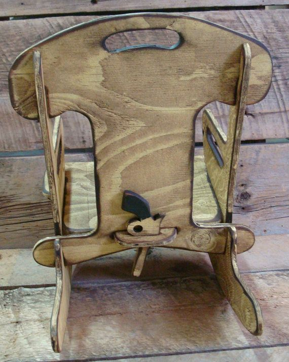 Puzzle RockerRocking chair for kids. Rustic by WorkHorseFurniture