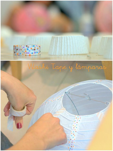 Might have to decorate the plain paper lanterns for the Alice in Wonderland Party with washi tape