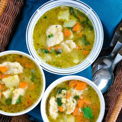 how to make vegan vegetable and dumpling soup
