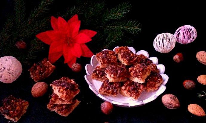 Linecké kostičky s ořechy a medem