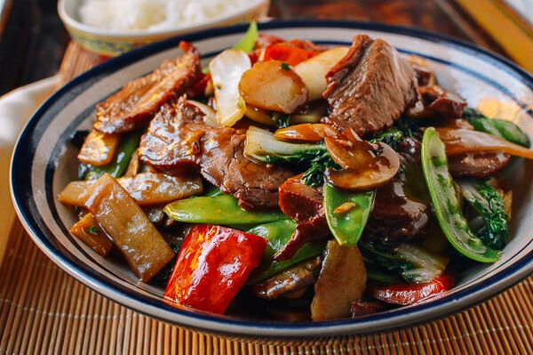 Roast Pork with Chinese Vegetables - The Woks of Life