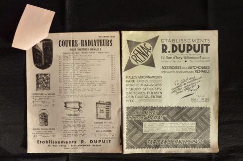 RENAC-Ets-R-Dupuis-Accessoires-Automobiles-Specialites-voitures-Renault-1936