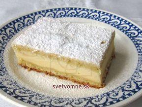 Krehký klasický koláčik... recept na variant s tvarohovo-pudingovou plnkou.