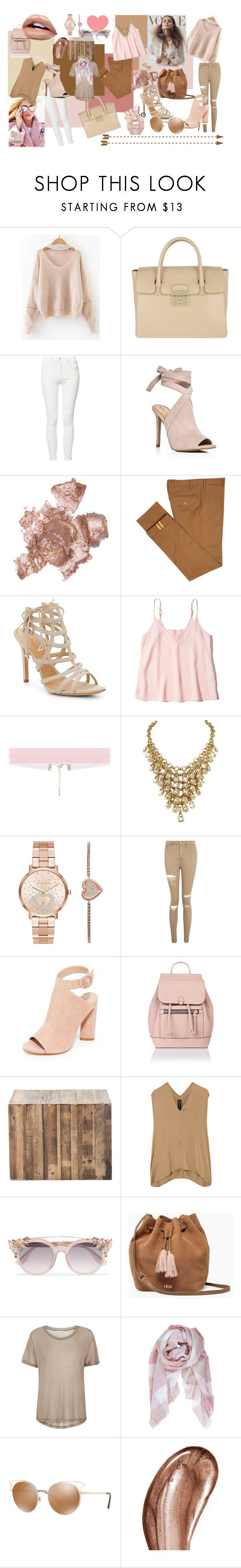 """mood board"" by delaneyeyanson ❤ liked on Polyvore featuring Furla, Mother, Kendall + Kylie, By Terry, Diverso, Schutz, Hollister Co., Michael Kors, Topshop and Accessorize"