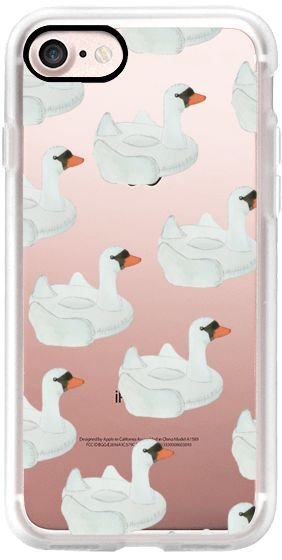 Casetify iPhone 7 Classic Grip Case - Summer Swan Float by Lauren Davis #Casetify