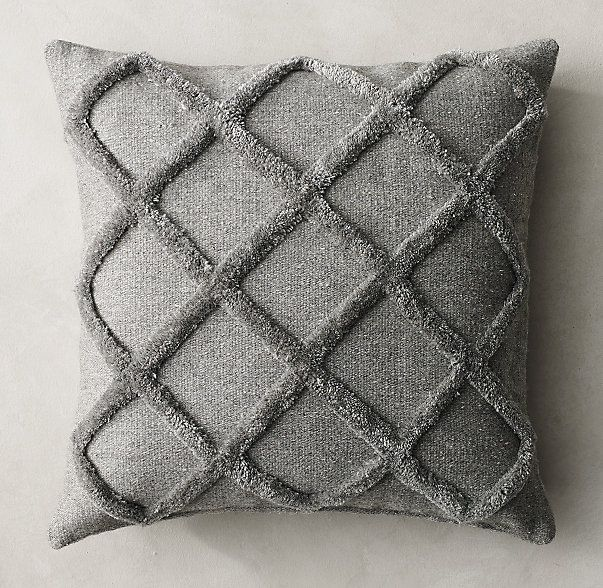 Restoration Hardware Pillows: Diamante Flatweave Pillow Cover - Square