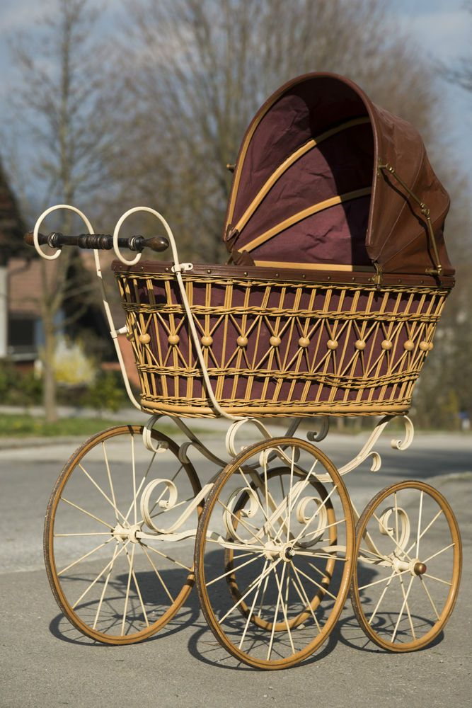 Antique baby carriage, vintage pram