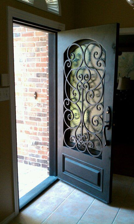 gorgeous front door - wrought iron:
