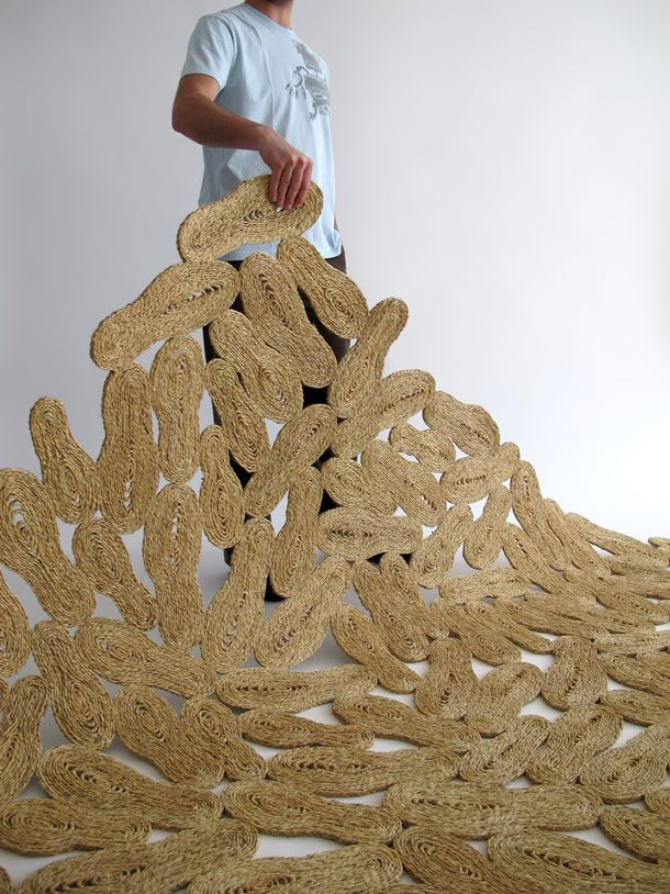 Sparto carpet, connecting footprints...by Martin Azua.