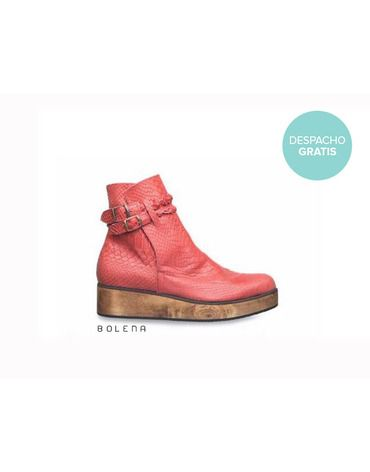 Botín Alexa Rojo | Chilean handmade shoes