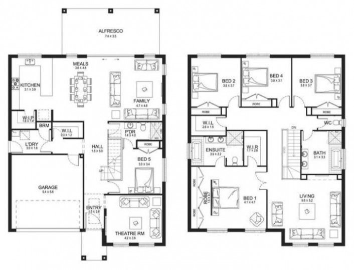 Pin By Regina Ariani On House Plans Two Storey House Plans Storey Homes Two Story House Plans