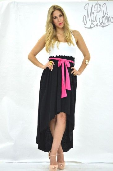 Maxi Assymetrical Two -Colour Dress with athletic back