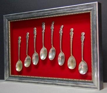 Encadré au Centre d'Art de Lloyd à Fort Collins , CO ( ancien atelier d'encadrement du Colorado ! ) La soupe Campbell Vintage , Woody Woodpecker et Tony les cuillères Tiger