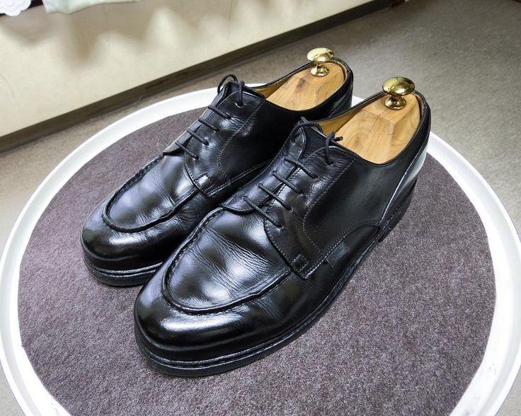 Paraboot タピール レーダーフェットを塗ったらなかなか乾かなくて4日置いてから乾拭きしました #paraboot #parabootchambord #chambord #shoes #shoecare #tapir #lederfett #パラブーツ #パラブーツシャンボード #シャンボード #紳士靴 #靴磨き #革靴 #タピール #レーダーフェット #シューケア