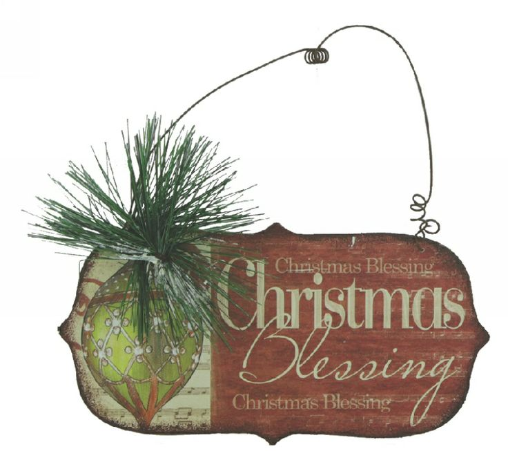 Christmas Blessings - Christmas Plaque