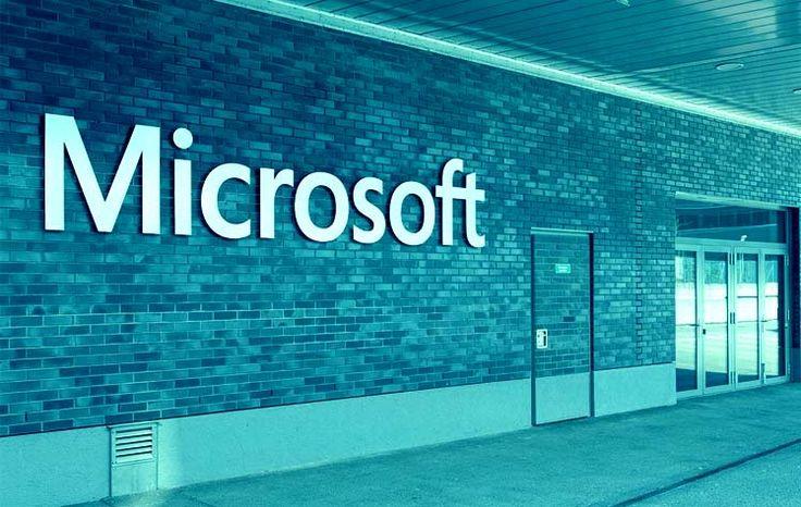 Microsoft logo on Wall