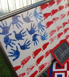 DIY Handprint Flag - Cute Fourth of July project with the little ones!
