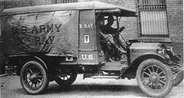 Technical Advancement during WWI:  Portable x-ray vehicle