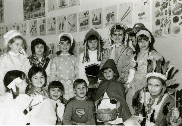 Festa di Carnevale, scuola elementare, anni '60 !