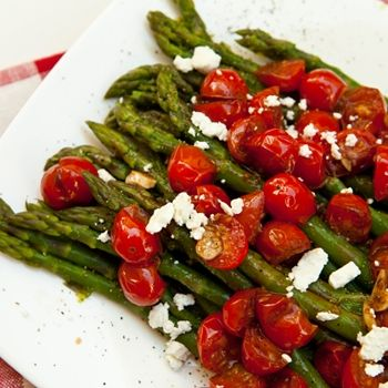 Asparagus With Balsamic Glazed Cherry Tomatoes Recipe - ZipList