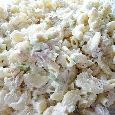 Tuna maccaroni salad.. sub mayo with Earth Balance Vegan Mayo =)